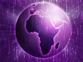 picture of cartographer  - Map of the Africa on a spherical globe cartographical illustration - JPG