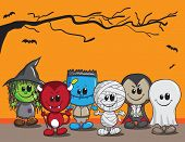 foto of dracula  - Cute halloween card  - JPG