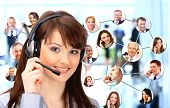 picture of telemarketing  - A group of people talking on the phone - JPG