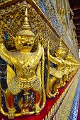 foto of garuda  - the statue of garuda at wat phra kaew in Bangkok Thailand