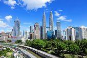 image of petronas twin towers  - Kuala Lumpur skyline - JPG
