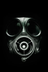 picture of s10  - UK S10 Armed Forces Gas Mask on dark background - JPG