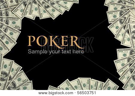 Poker background and place for the text