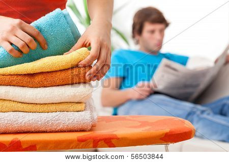 Lying Towels After Laundering