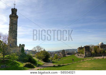 EDINBURGH - MAY 29: Panorama of Calton Hill May 29, 2009 in Edinburgh, Scotland