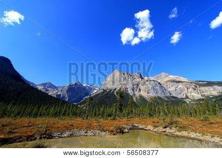 President Range At Emerald Lake, Yoho National Park, Canada