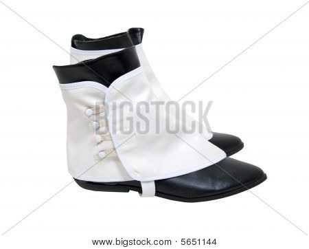 White Spats Over Boots