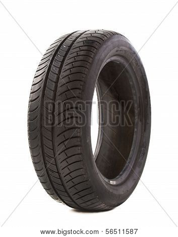 Used Tire On White
