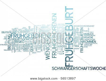 Word cloud -  premature birth