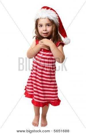 Happy Little Christmas Santa Girl