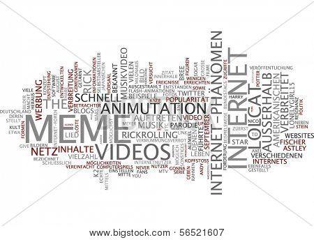 Word cloud -  meme