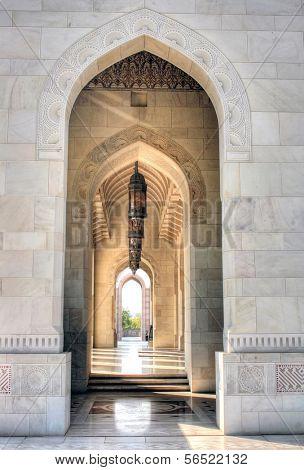 Arco / cofre da grande mesquita de Mascate | Omã