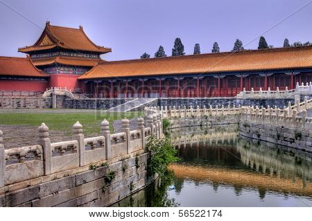 Temples of the Forbidden City in Beijing China