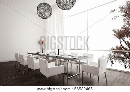 moderne wei e esszimmer design mit komfortabel esszimmerm bel im pictures to pin on pinterest. Black Bedroom Furniture Sets. Home Design Ideas