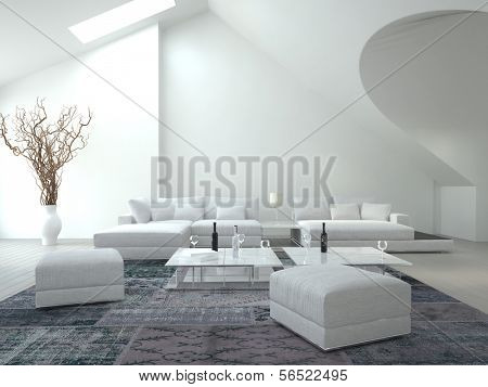 Awesome white Living Room | Interior Architecture