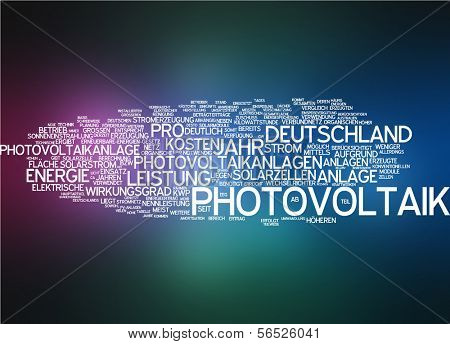 Word cloud -  photovoltaics