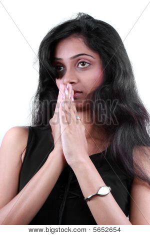 Praying Indian Teenager
