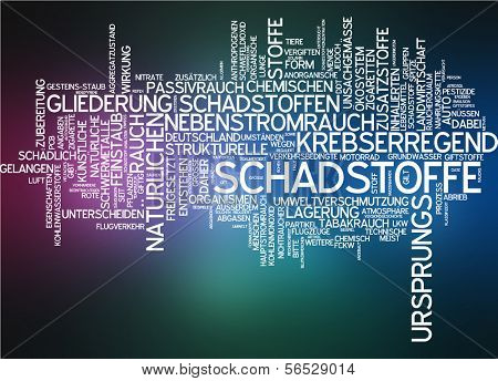 Word cloud -  pollutant