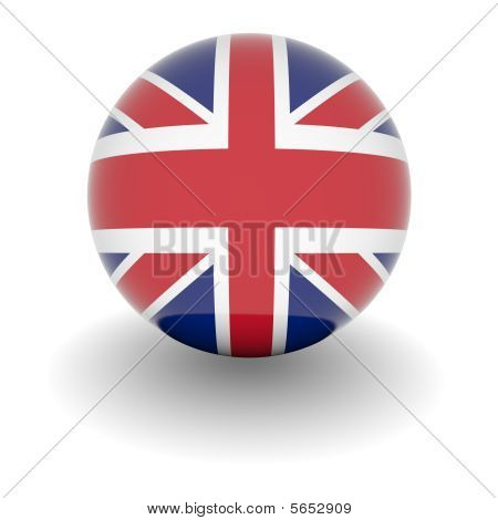 High Resolution Ball With Flag Of The United Kingdom