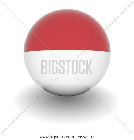 High Resolution Ball With Flag Of Monaco