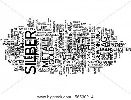 Word cloud -  silver