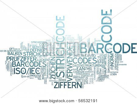 Word cloud -  barcode