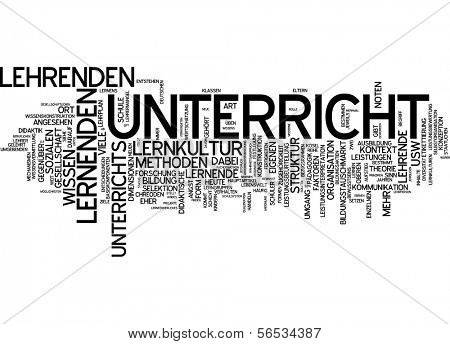 Word cloud -  teaching