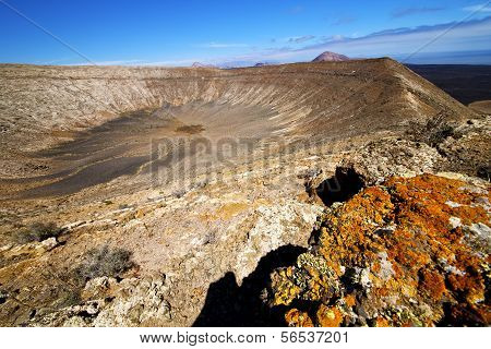 Vulcanic Timanfaya  Rock Stone Sky  Lanzarote