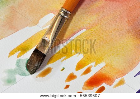 Artistic Watercolor Brush