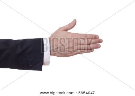 Businessman Arm Extends His Hand