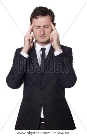 Businessman With Headache