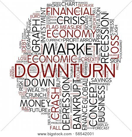 Info-text graphic - downturn