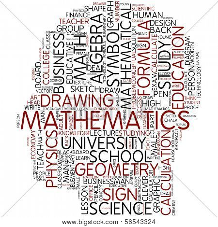 Info-text graphic - mathematics