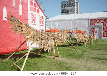 Perm - June 7: Wooden Wings At Festival White Nights, On June 7, 2012 In Perm, Russia.