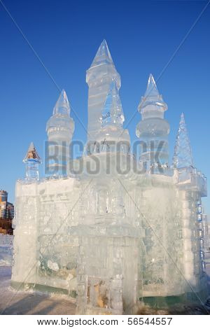 Perm - February 17: Castle In Ice Town, On February 17, 2012 In Perm, Russia. During Winter Holidays