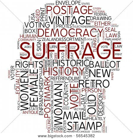 Info-text graphic - suffrage