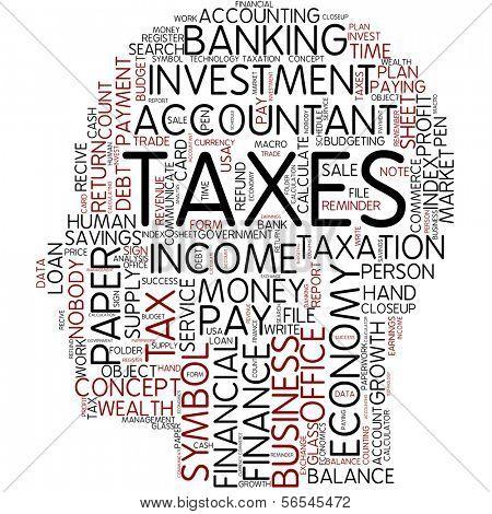 Gráfico de info-texto - impuestos