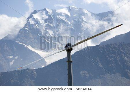 Mountain Wind Turbine