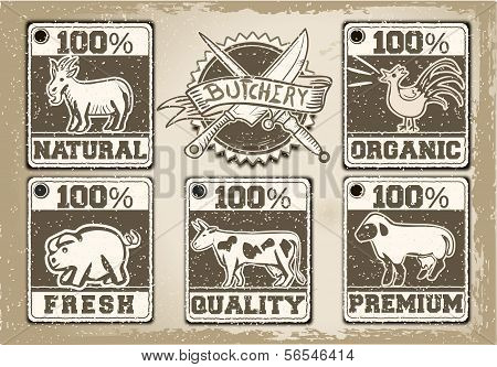 Vintage Labels Page For Butcher Shop