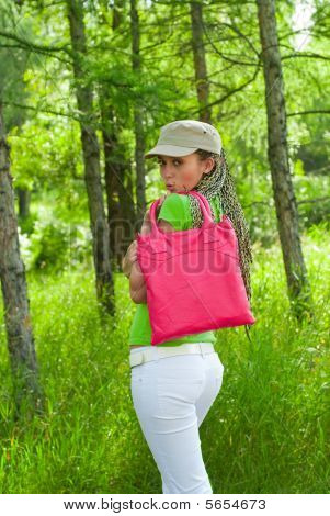 Girl With Pink Bag