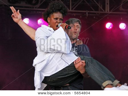 Mark Berry (Bez) of the Happy Mondays Indie band (and winner of Celebrity Big Brother 2005) and Juli