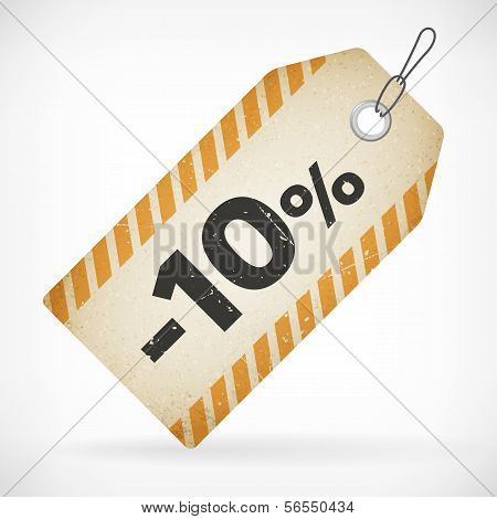 Realistic Paper 10% Sale Off Price Labels