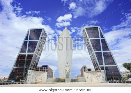 Leaning Towers Of Madrid Puerta De Europa Spain