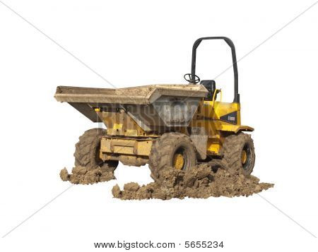 Dumper Truck With Muddy Wheels