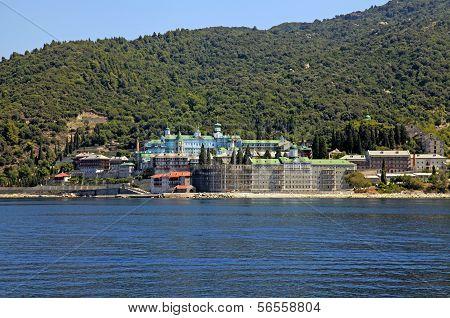 St. Panteleimon Monastery, Mount Athos In Halkidiki, Greece