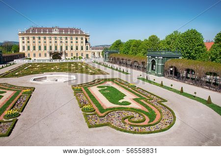 Crown prince privy garden of Schonbrunn Palace in Vienna, Austria