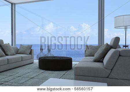3D rendering of modern apartment interior
