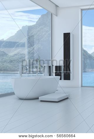 3D rendering of modern bathroom interior