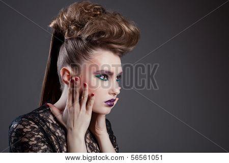 fashion beauty portrait of sexy woman
