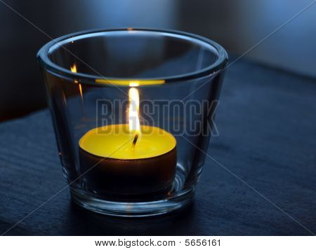 candle with ambience